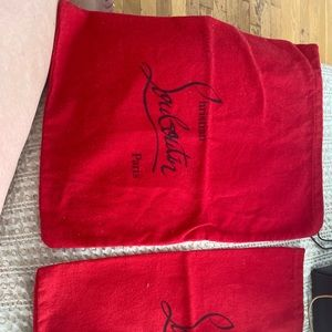 Louboutin dust bags (two)